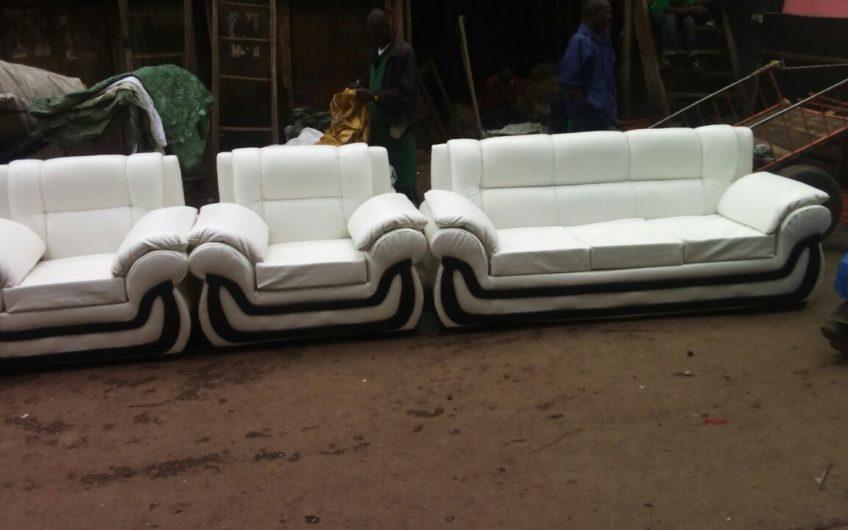 Leather & Fabric Sofa set